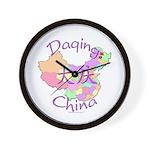 Daqing China Map Wall Clock