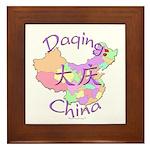 Daqing China Map Framed Tile