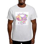 Harbin China Map Light T-Shirt