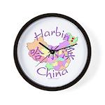Harbin China Map Wall Clock