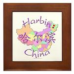 Harbin China Map Framed Tile