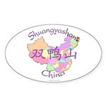 Shuangyashan China Oval Sticker (10 pk)