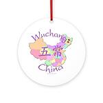 Wuchang China Map Ornament (Round)