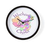 Wuchang China Map Wall Clock