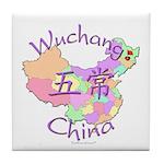 Wuchang China Map Tile Coaster