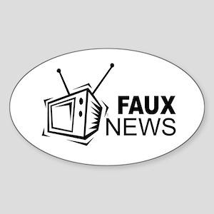 Faux News Oval Sticker
