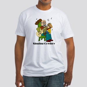 Singing Cowboy Fitted T-Shirt