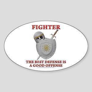 Best Defense Oval Sticker