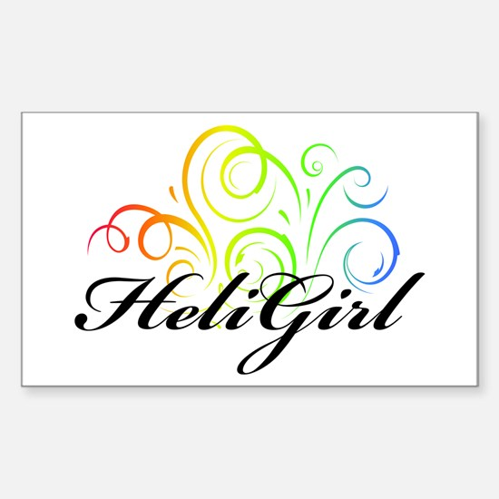 HeliGirlCurlyColor2 Rectangle Decal