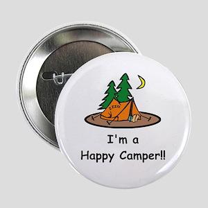 """I'm A Happy Camper!! 2.25"""" Button"""