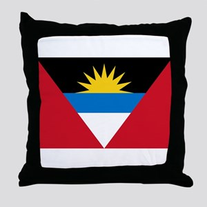 Flag of Flag of Antigua and Barbuda Throw Pillow