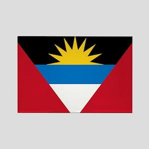 Flag of Flag of Antigua and Barbuda Rectangle Magn