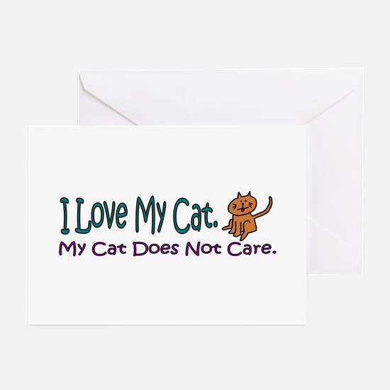 I Love My Cat... Greeting Cards (Pk of 20)