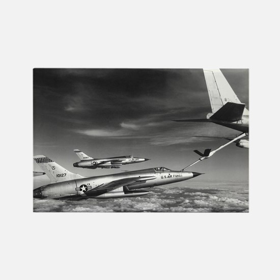 F-105 Thunderchief Fighter Rectangle Magnet