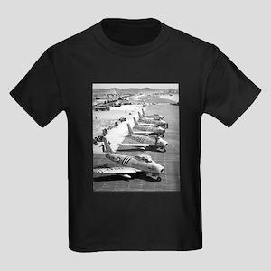 F-86 Sabre Fighters Kids Dark T-Shirt
