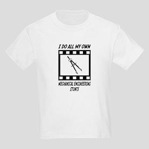 Mechanical Engineering Stunts Kids Light T-Shirt