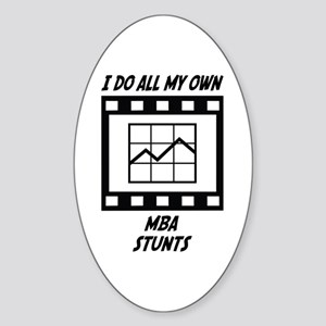 MBA Stunts Oval Sticker