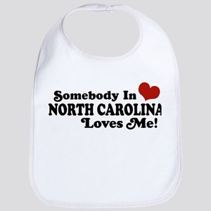 Somebody in North Carolina Loves me Bib