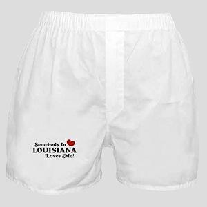 Somebody in Louisiana Loves me Boxer Shorts