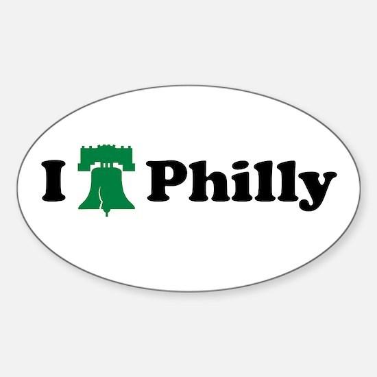 I LOVE PHILADELPHIA I LOVE PH Oval Decal