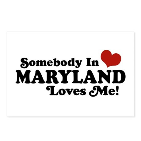 Somebody in Maryland Loves me Postcards (Package o