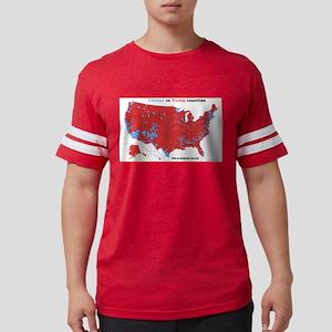 Trump vs Clinton Map T-Shirt
