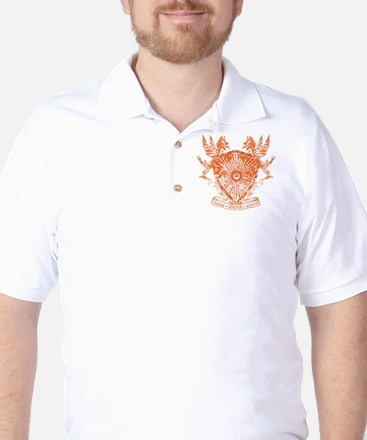 Dragons Orange Golf Shirt