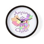 Anyang China Map Wall Clock