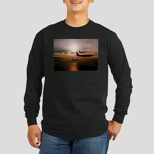 F-16 Falcons Refueling Long Sleeve Dark T-Shirt