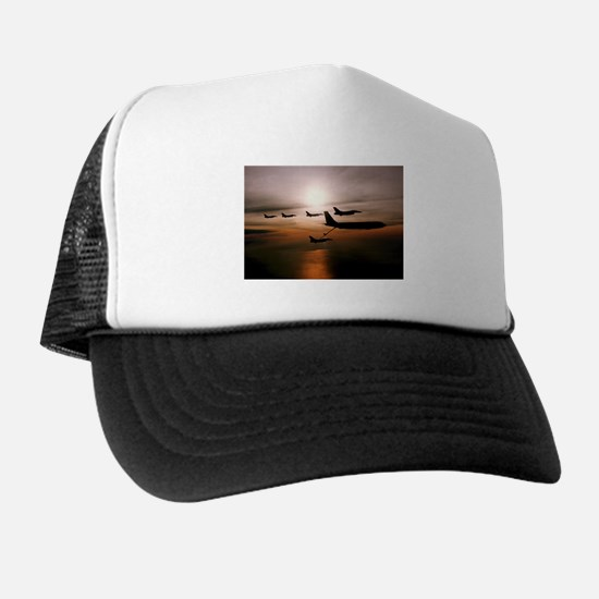 F-16 Falcons Refueling Trucker Hat