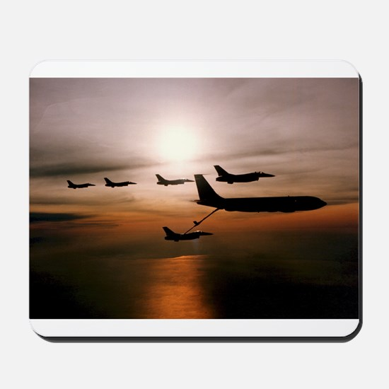 F-16 Falcons Refueling Mousepad