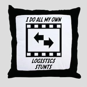 Logistics Stunts Throw Pillow