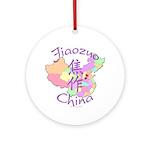 Jiaozuo China Map Ornament (Round)