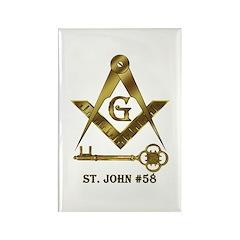 St. John #58 Rectangle Magnet (10 pack)