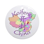 Kaifeng China Map Ornament (Round)