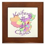 Kaifeng China Map Framed Tile