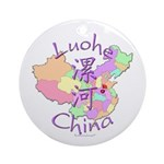 Luohe China Map Ornament (Round)