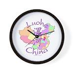 Luohe China Map Wall Clock