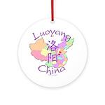 Luoyang China Map Ornament (Round)