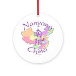 Nanyang China Map Ornament (Round)