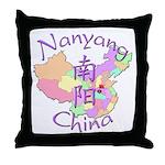 Nanyang China Map Throw Pillow
