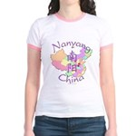 Nanyang China Map Jr. Ringer T-Shirt