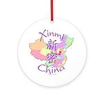 Xinmi China Map Ornament (Round)