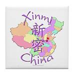 Xinmi China Map Tile Coaster