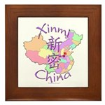 Xinmi China Map Framed Tile
