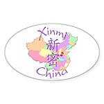 Xinmi China Map Oval Sticker (10 pk)