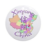 Xinyang China Map Ornament (Round)