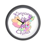 Xinyang China Map Wall Clock