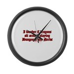 Dragons Play Dungeons And Ner Large Wall Clock