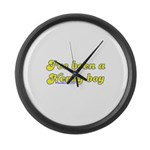 I've Been A Nerdy Boy Large Wall Clock